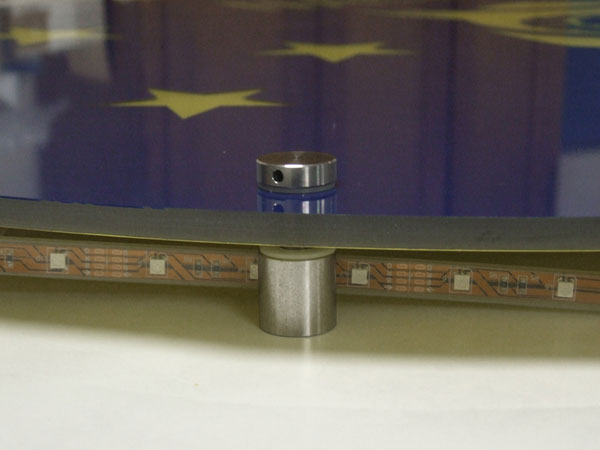 LED-Technik hinter Plexiglas